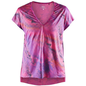 Craft Charge SS Loose Tee Women, fame/multi